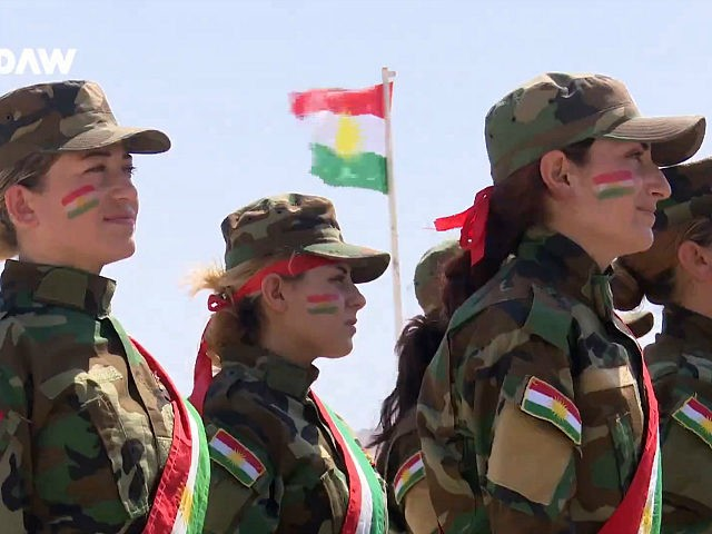Watch: Yazidi Women Graduate Peshmerga Training to Fight Islamic State in Iraq