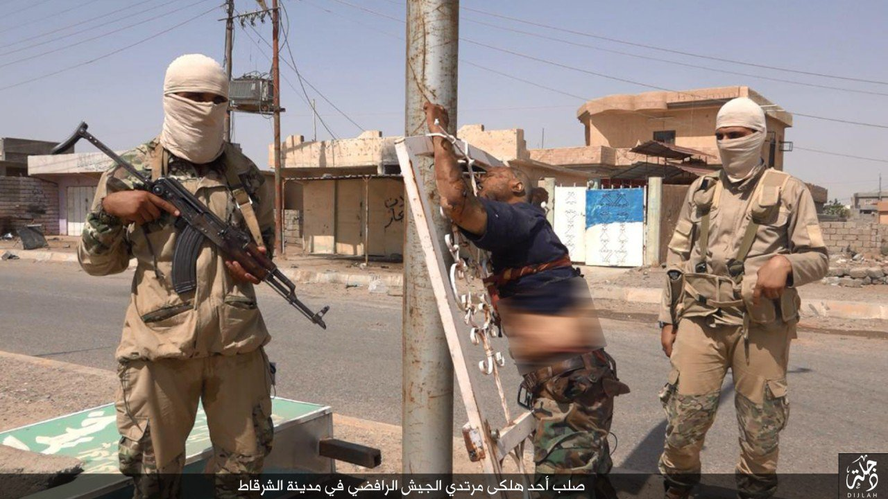 islamic state crucifiction