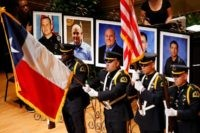 Memorial Service for five Dallas-area police officers killed in an ambush attack during a Black Lives Matter protest. (AP Photo)