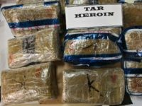 Mexican tar heroin seized in different raid operations, File