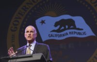 FILE - In this May 18, 2016 file photo, California Gov. Jerry Brown gestures during a community event in Sacramento, Calif. The Citizen Compensation Commission approved a 4 precent pay raise for Brown and other top elected California officials, Wednesday, June 1, 2016. (AP Photo/Rich Pedroncelli,File)