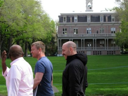 Three men walk by the University of Nevada, Reno's original administration building, Morrill Hall, on the school quad on Friday, April 29, 2016 in Reno, Nev. The school founded in 1874 is reviewing it's policy on cheating. Teachers at the University of Nevada in Reno say punishment for students caught …