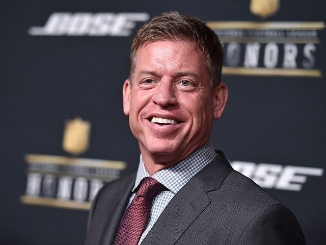 Former NFL player Troy Aikman arrives at the 5th annual NFL Honors at the Bill Graham Civic Auditorium on Saturday, Feb. 6, 2016, in San Francisco. (Photo by Jordan Strauss/Invision for NFL/AP Images)