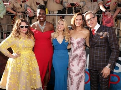 """Melissa McCarthy, Leslie Jones, Kate McKinnon, Kristen Wiig, and Paul Feig are seen at the Los Angeles Premiere of Columbia Pictures' """"Ghostbusters"""" at TCL Chinese Theatre on Saturday, July 9, 2016, in Los Angeles. (Photo by Eric Charbonneau/Invision for Sony/AP Images)"""