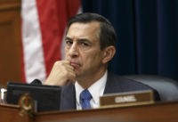 House Oversight Committee Chairman Rep. Darrell Issa, R-Calif. listens on Capitol Hill in Washington, Tuesday, Sept. 30, 2014, as Secret Service Director Julia Pierson answers questions about the security breach at the White House when a man climbed over a fence, sprinted across the north lawn and dash deep into …