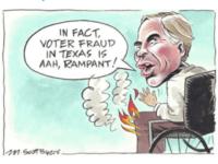 Abbott on fire cartoon