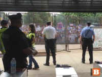 Bernie Protesters (Joel Pollak / Breitbart News)