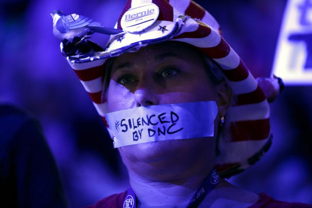 PHILADELPHIA, PA - JULY 25: on the first day of the Democratic National Convention at the Wells Fargo Center, July 25, 2016 in Philadelphia, Pennsylvania. An estimated 50,000 people are expected in Philadelphia, including hundreds of protesters and members of the media. The four-day Democratic National Convention kicked off July …