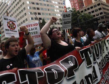 Black Lives Matter Trump protest (Justin Sullivan / Getty)