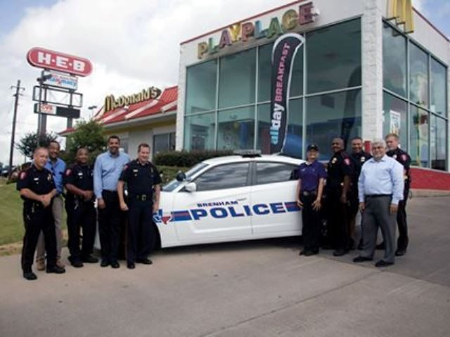 Brenham PD at McDonald's