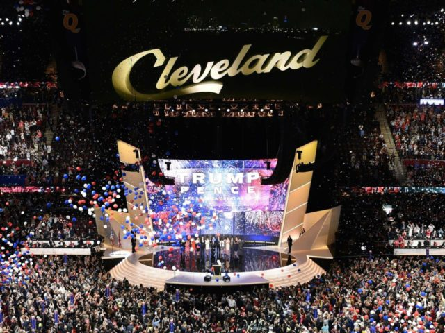 Cleveland convention (Domick Reuter / AFP / Getty)