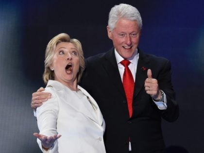 Clintons at DNC (Saul Loeb / AFP / Getty)