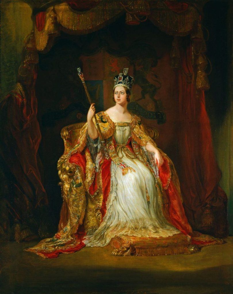 Coronation portrait of Queen Victoria by Sir George Hayter, 1838, oil on canvas.