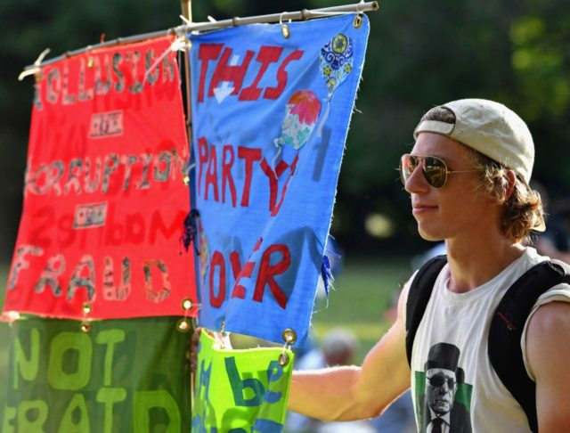 DNC Protest (Jeff J Mitchell / Getty)