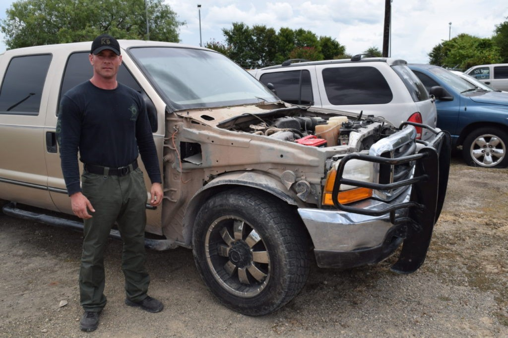 Ford truck seized after drug bust. (Photo: Bob Price/Breitbart Texas)