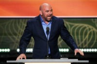 CLEVELAND, OH - JULY 19: UFC President Dana White delivers a speech on the second day of the Republican National Convention on July 19, 2016 at the Quicken Loans Arena in Cleveland, Ohio. Republican presidential candidate Donald Trump received the number of votes needed to secure the party's nomination. An estimated 50,000 people are expected in Cleveland, including hundreds of protesters and members of the media. The four-day Republican National Convention kicked off on July 18.  (Photo by Alex Wong/Getty Images)