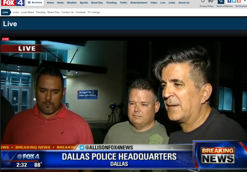 FOX 4 LIVE 242 People are beginning to gather outside police department bldg