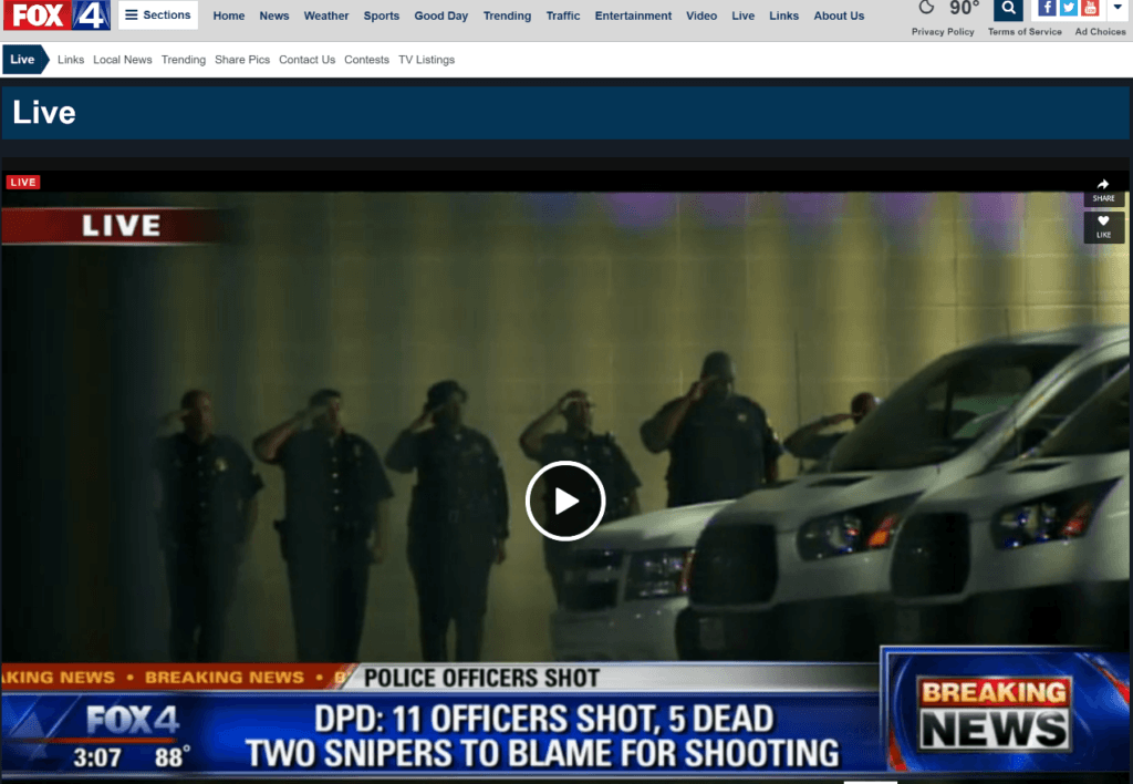 FOX 4 LIVE 317 OFFICERS SALUTING FAMILY AT PARKLANE HOSPITAL