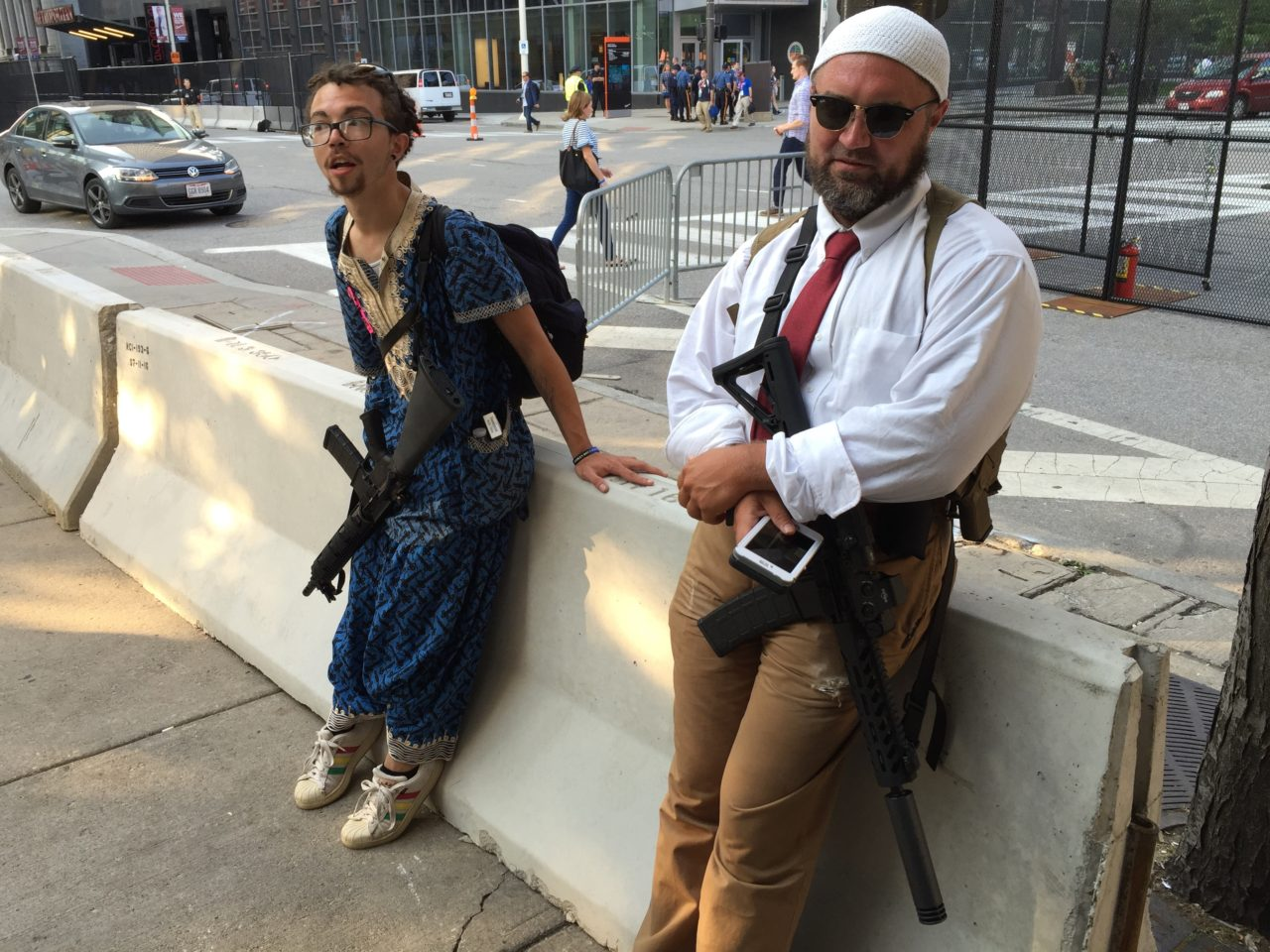 Ohio Leftists With Ar 15 Rifles Outside Republican Convention