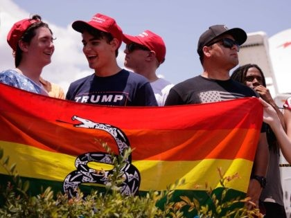 Gay Trump fans (Drew Angerer / Getty)