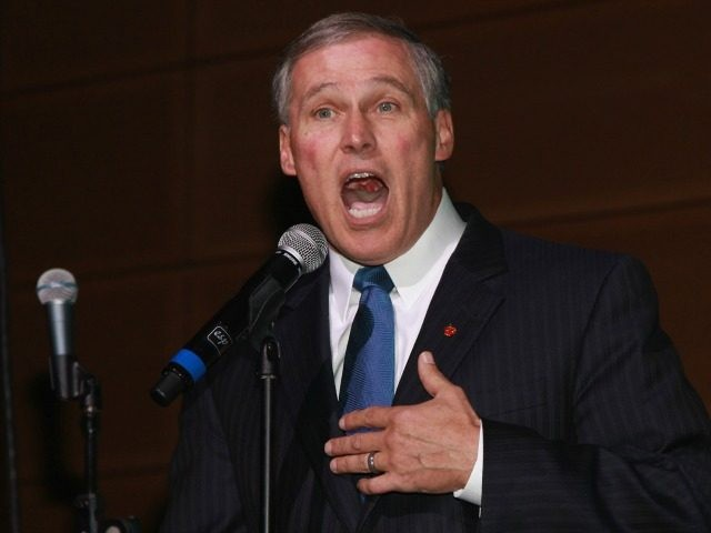 Governor Jay Inslee speaks at the 2013 Green Inaugural Ball at NEWSEUM on January 20, 2013 in Washington, DC.
