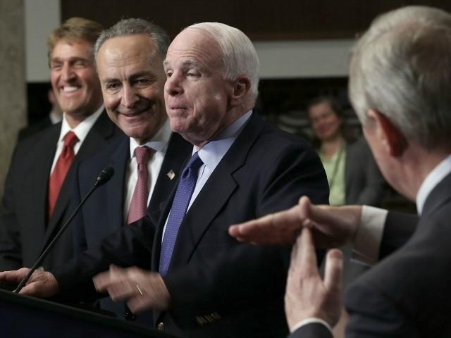 Sen. McCain Flip-Flops on 'Zero Tolerance,' Now Urges Zero Enforcement | Breitbart
