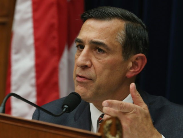 WASHINGTON, DC - OCTOBER 24: Chairman Darrell Issa (R-CA) speaks during a House Oversight and Government Reform Committee hearing on Capitol Hill, October 24, 2014 in Washington, DC. The committee is hearing testimony from officials regarding the Ebola crisis and the coordination of the multi-agency response. (Photo by Mark Wilson/Getty …