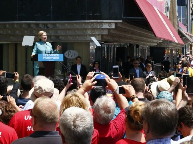 Democratic presidential candidate Hillary Clinton speaks during a event in Atlantic City, New Jersey, on July 6, 2016.