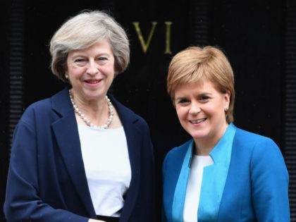British Prime Minister Theresa May Meets Scotland's First Minister