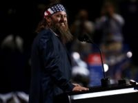 Television personality and CEO of Duck Commander, Willie Robertson speaks on the first day of the Republican National Convention on July 18, 2016 at the Quicken Loans Arena in Cleveland, Ohio. An estimated 50,000 people are expected in Cleveland, including hundreds of protesters and members of the media. The four-day …