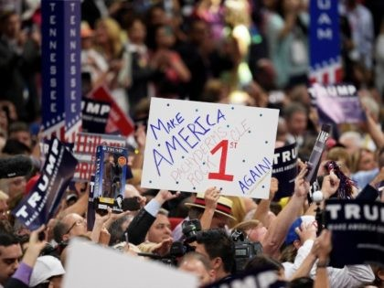 CLEVELAND, OH - JULY 19: on the second day of the Republican National Convention on July 19, 2016 at the Quicken Loans Arena in Cleveland, Ohio. An estimated 50,000 people are expected in Cleveland, including hundreds of protesters and members of the media. The four-day Republican National Convention kicked off …