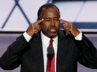 Former Republican presidential candidate Ben Carson delivers a speech on the second day of the Republican National Convention on July 19, 2016 at the Quicken Loans Arena in Cleveland, Ohio. Republican presidential candidate Donald Trump received the number of votes needed to secure the party's nomination. An estimated 50,000 people …