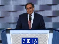 Former Congressman and Secretary of Defense Leon Panetta speaks during the third evening session of the Democratic National Convention at the Wells Fargo Center in Philadelphia, Pennsylvania, July 27, 2016. / AFP / SAUL LOEB        (Photo credit should read SAUL LOEB/AFP/Getty Images)
