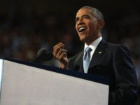 PHILADELPHIA, PA - JULY 27: US President Barack Obama delivers remarks on the third day of the Democratic National Convention at the Wells Fargo Center, July 27, 2016 in Philadelphia, Pennsylvania. Democratic presidential candidate Hillary Clinton received the number of votes needed to secure the party's nomination. An estimated 50,000 …