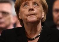 MUNICH, GERMANY - JULY 31:  German chancellor Angela Merkel attends a memorial service for the victims of last week's shooting spree that left nine victims dead on July 31, 2016 in Munich, Germany. David Ali Sonboly, an 18-year-old German of Iranian descent, killed nine people in a shooting spree near and in a shopping center before killing himself in a park. Investigators have found evidence Sonboly found inspiration in the 2011 mass shooting in Norway by Anders Breivik.  (Photo by Johannes Simon/Getty Images)