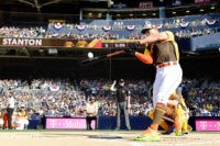 SAN DIEGO, CA - JULY 11:  Giancarlo Stanton of the Miami Marlins competes during the T-Mobile Home Run Derby at PETCO Park on July 11, 2016 in San Diego, California.  (Photo by Harry How/Getty Images)