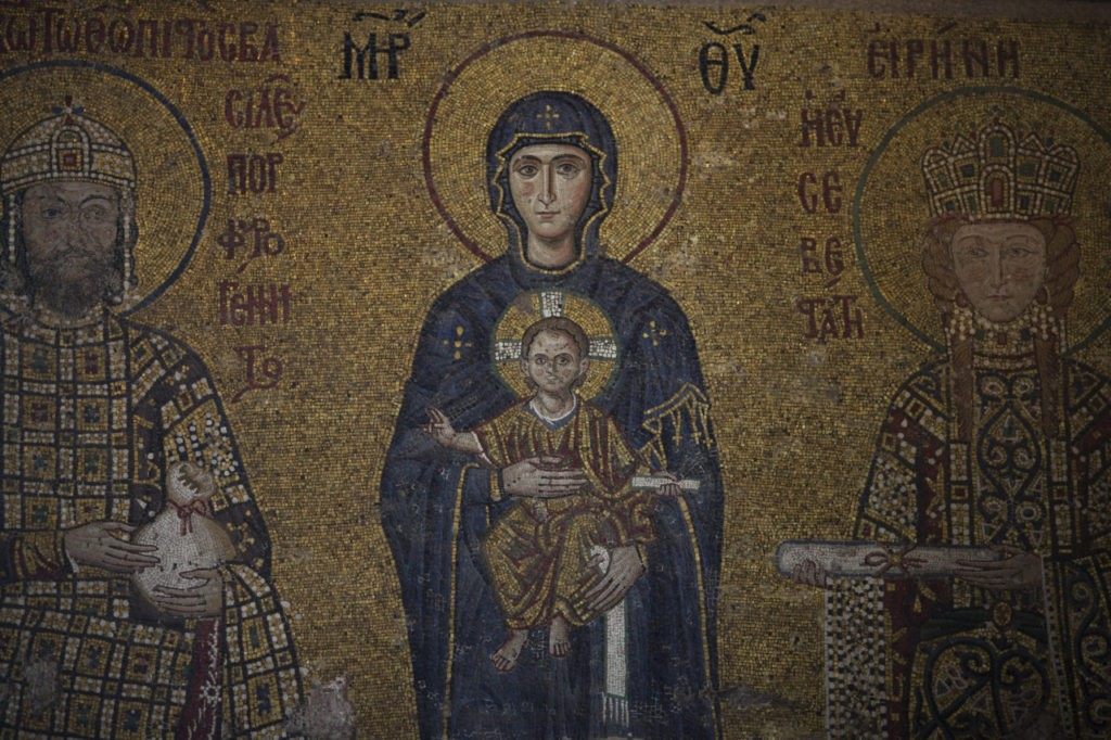The original Christian murals adorning the walls inside the Haghia Sofia (Photo by Dan Kitwood/Getty Images)