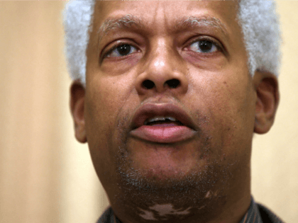 U.S. Rep. Hank Johnson (D-GA) speaks during a news conference January 16, 2013 on Capitol Hill in Washington, DC. House Democrats held a news conference to announce new legislation to eliminate the federal debt ceiling. (Photo by Alex Wong/Getty Images)