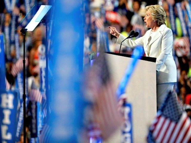 PHILADELPHIA, PA - JULY 28: on the fourth day of the Democratic National Convention at the Wells Fargo Center, July 28, 2016 in Philadelphia, Pennsylvania. Democratic presidential candidate Hillary Clinton received the number of votes needed to secure the party's nomination. An estimated 50,000 people are expected in Philadelphia, including …