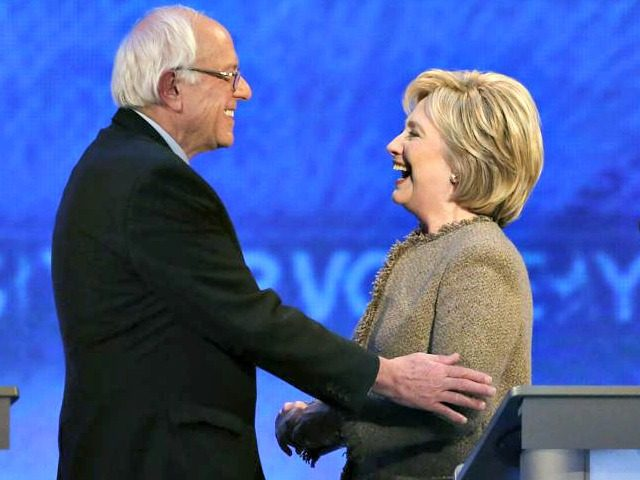 Hillary and Bernie AP