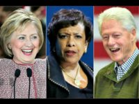 Hillary Clinton, Loretta Lynch, Bill Clinton collage