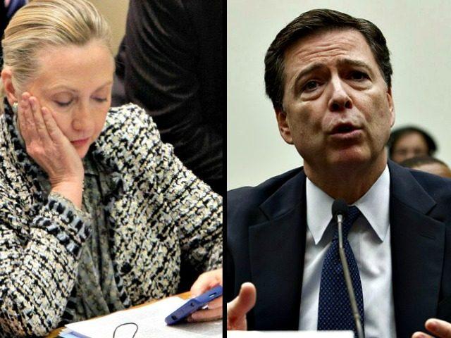 Hillary and Comey AP Photos