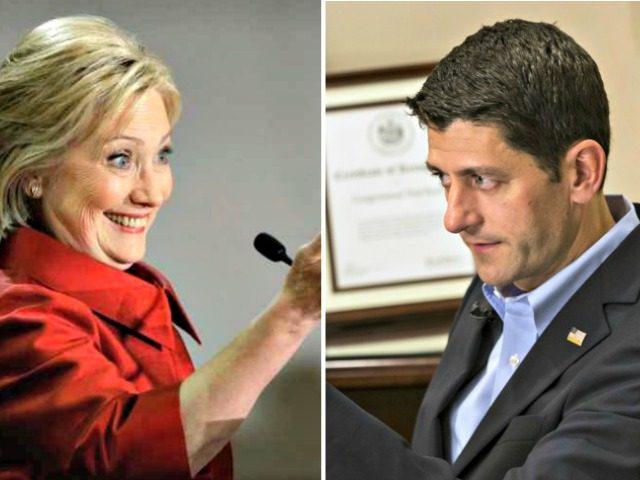 Hillary and Ryan AP Photos