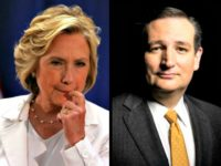 Hillary and Ted Cruz AP