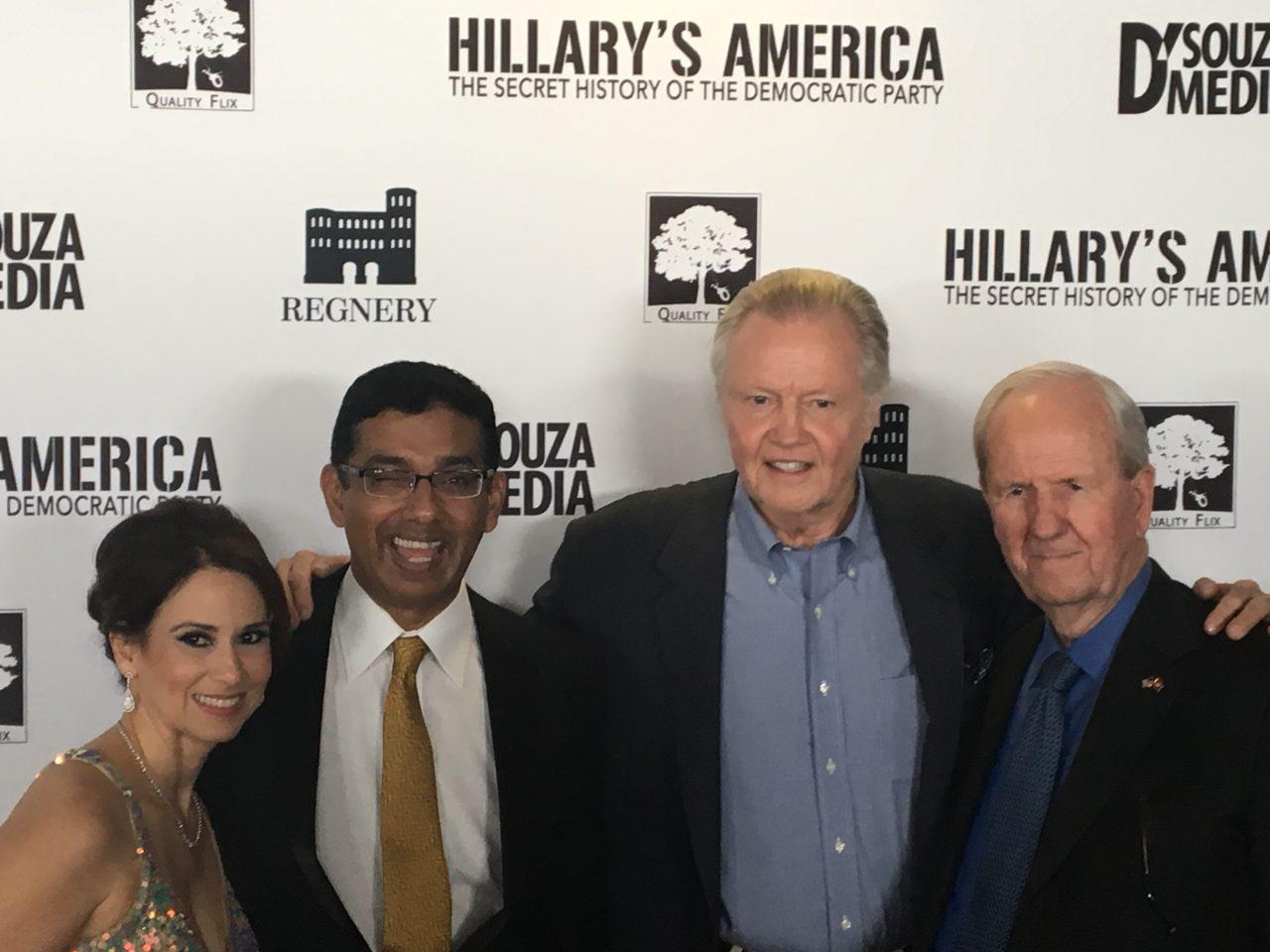 L-R: Debbie D'Souza, Dinesh D'Souza, Jon Voight, producer Gerald R. Molen (Photo: Daniel Nussbaum)