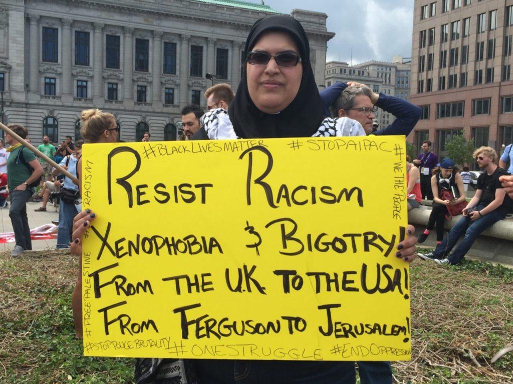 Palestinian Protester at Cleveland RNC (Joel Pollak / Breitbart News)