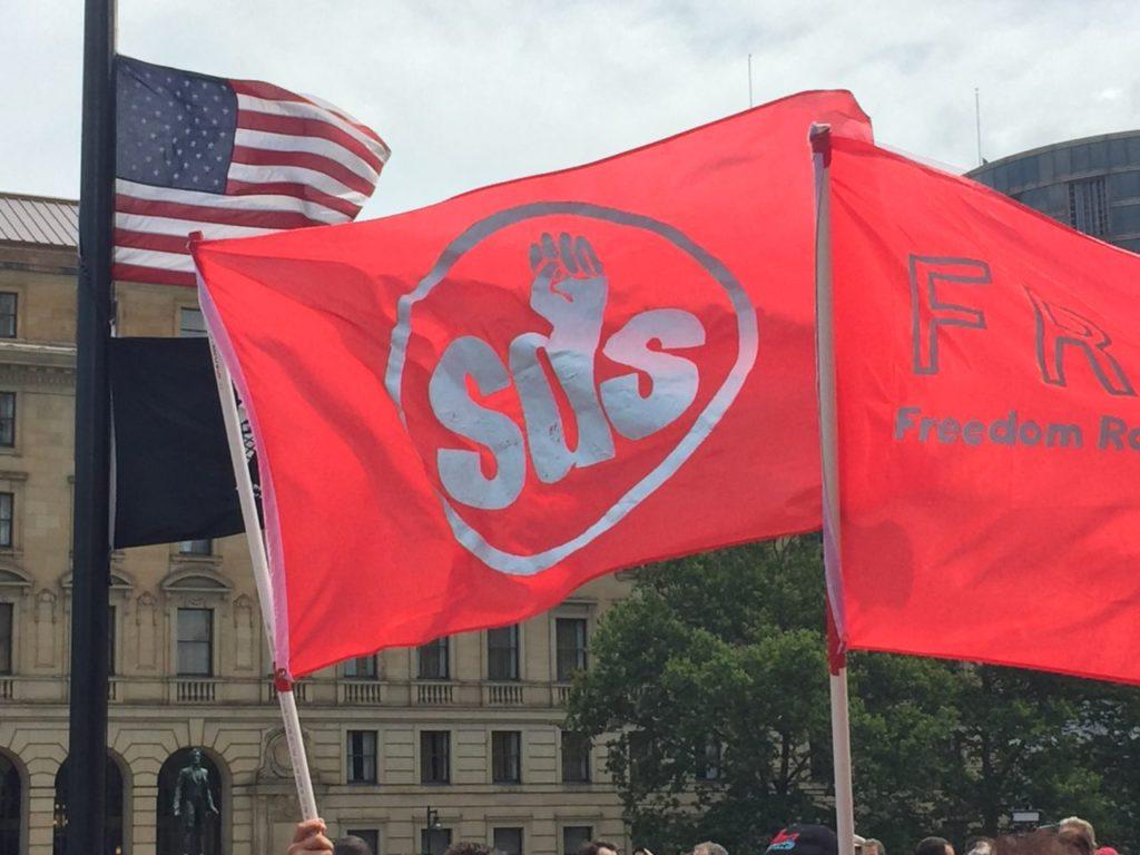 SDS at Cleveland RNC (Joel Pollak / Breitbart News)