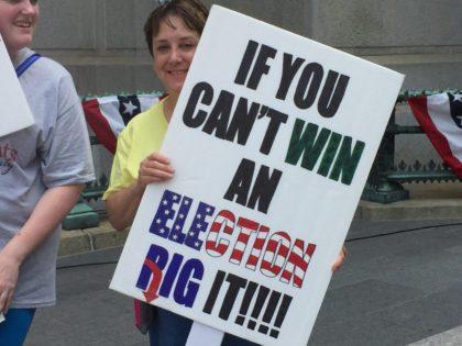 DNC Protest Sign (Joel Pollak / Breitbart News)