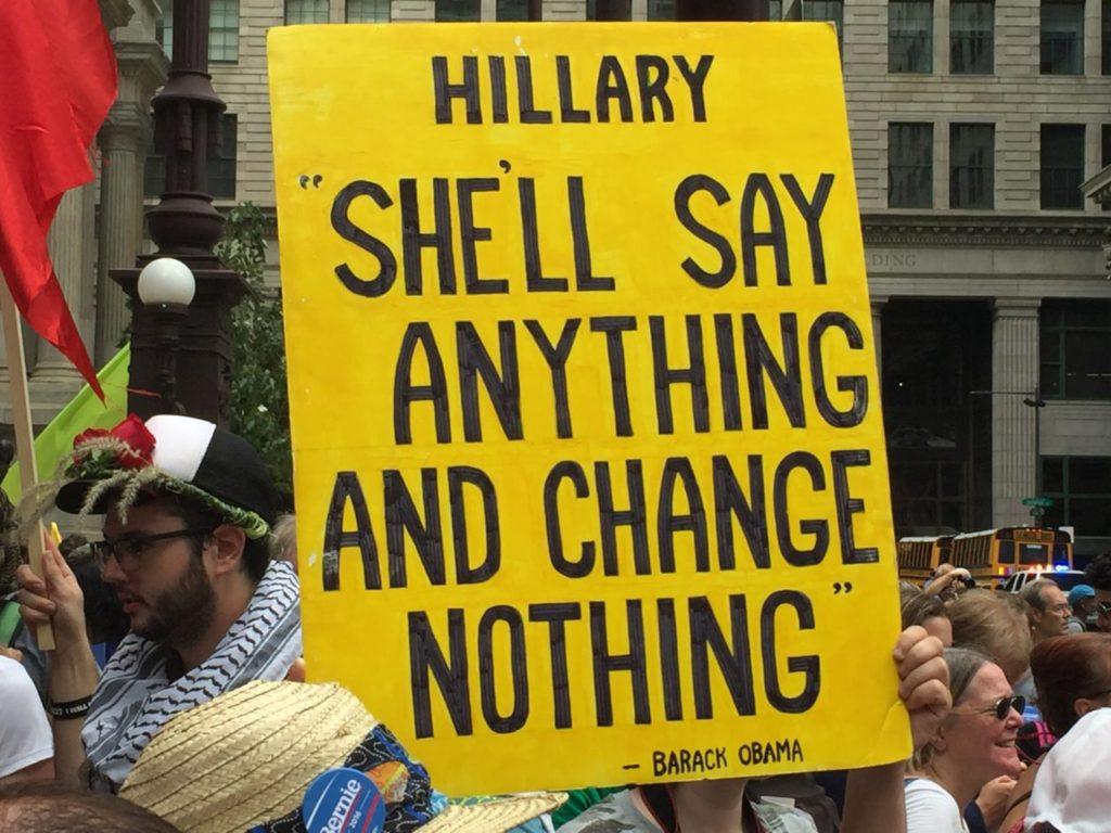 DNC Protest (Joel Pollak / Breitbart News)