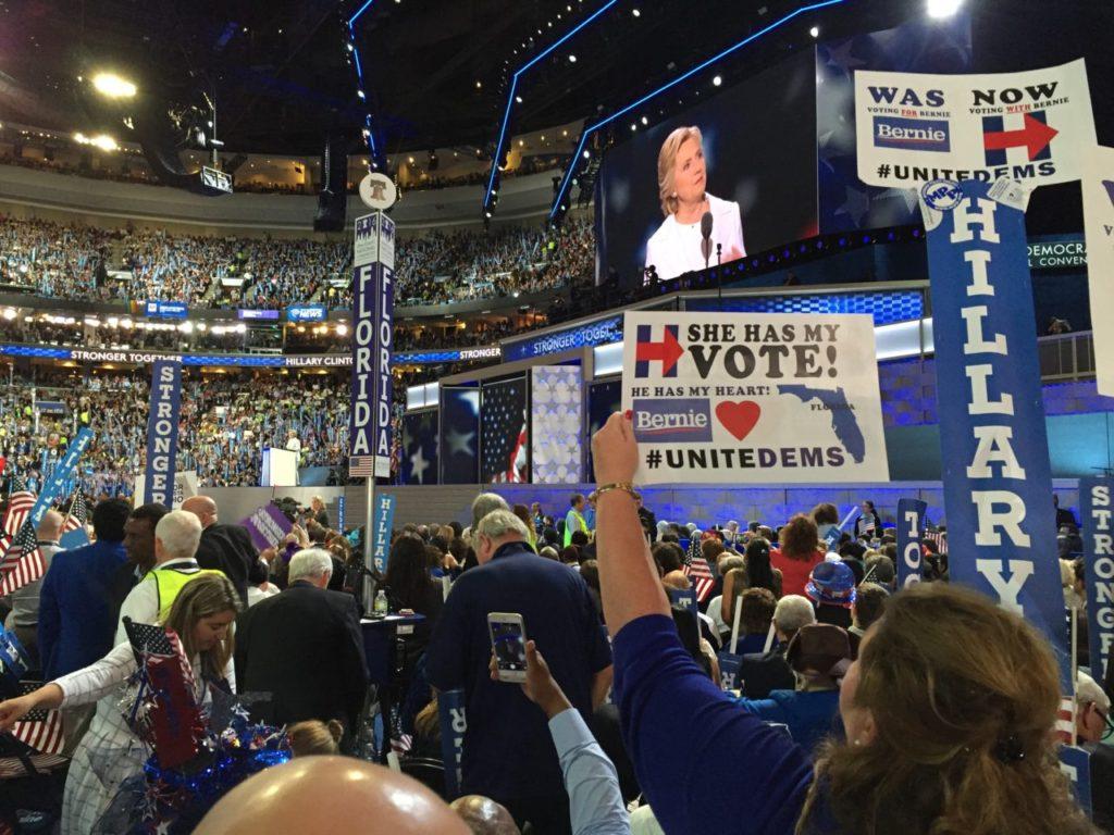 Hillary speech (Joel Pollak / Breitbart News)